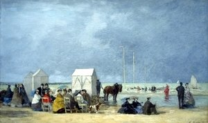 Eugène Boudin - Bathing Time at Deauville