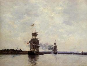 Eugène Boudin - Havre, the Outer Harbor
