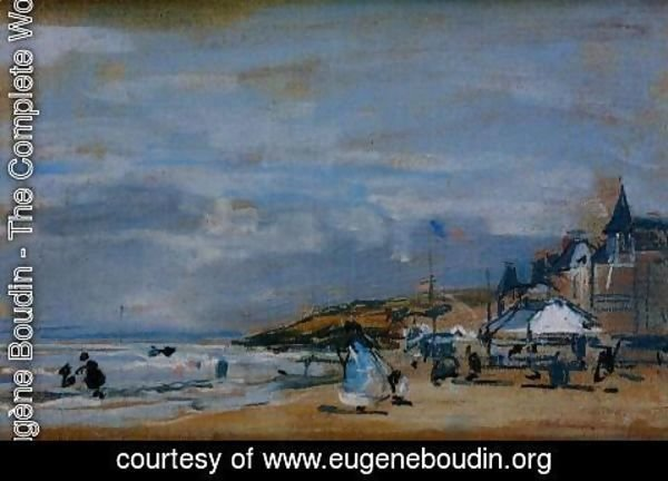 Eugène Boudin - The Beach at Trouville II