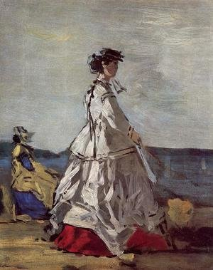 Princess Metternich on the Beach