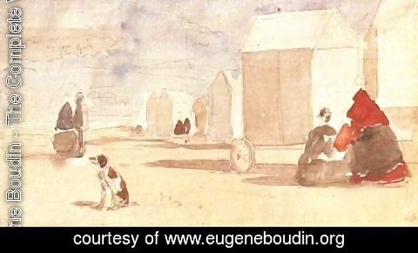 Eugène Boudin - The Beach Huts