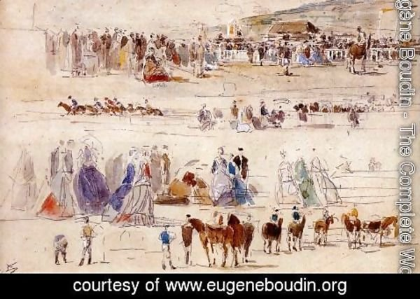 Eugène Boudin - The Racetrack at Deauville