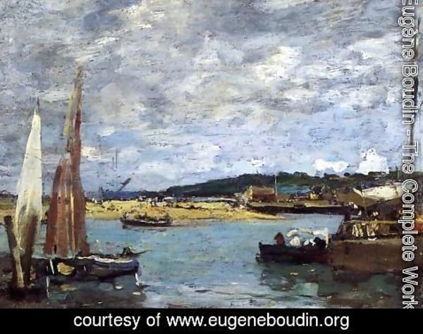 Eugène Boudin - The Ferry to Deauville