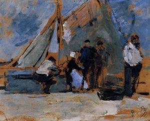 Eugène Boudin - The Quay at Honfleur