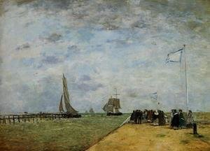 Eugène Boudin - The Trouville Jetty