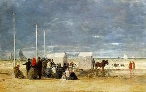 Eugène Boudin - On the Beach IV