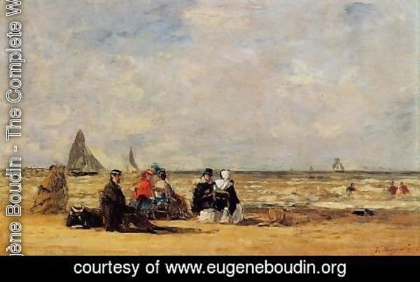 Eugène Boudin - The Beach at Trouville III