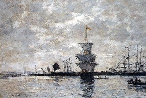 Eugène Boudin - Le Havre, the Quarentine Basin