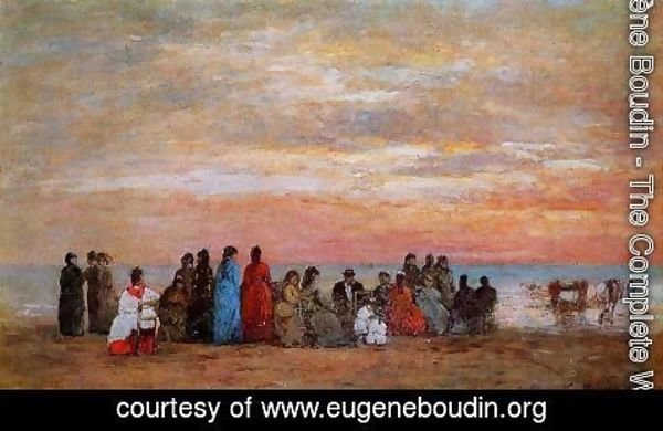 Eugène Boudin - Figures on the Beach at Trouville