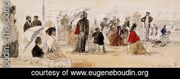 Eugène Boudin - Scene on the Beach