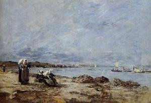 Eugène Boudin - Plougastel, Women Waiting for the Ferry