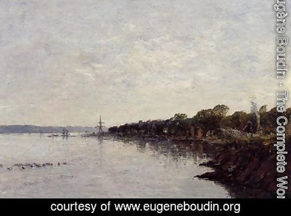 Eugène Boudin - Brest, the Banks of the Harbor