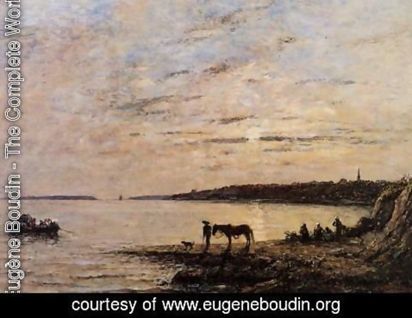 Eugène Boudin - Brest, the Harbor