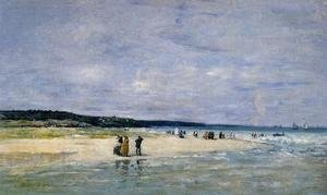 Eugène Boudin - Beach near Trouville