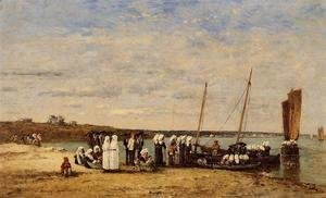 Eugène Boudin - Fishermen of Kerhor Receiving a Blessing at Plougastel