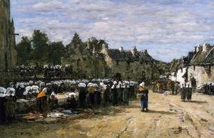 Eugène Boudin - The Market at Landenneau