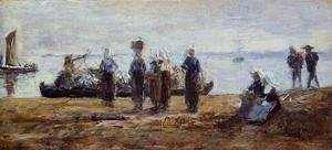 Eugène Boudin - The Ferry at Plougastel