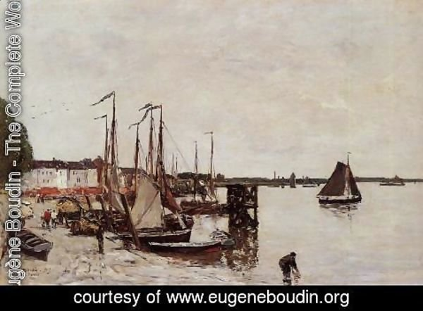 Eugène Boudin - Anvers, Fishing Boats