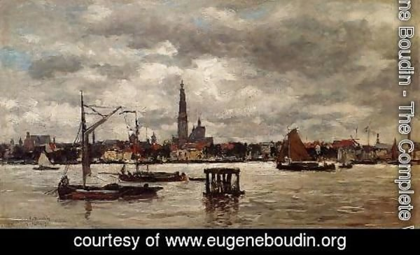 Eugène Boudin - Anvers, the Scheldt