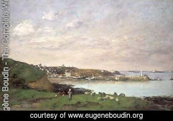 Eugène Boudin - View at Saint-Quay-Portriaux