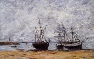 Eugène Boudin - Portrieux, the Port at Low Tide