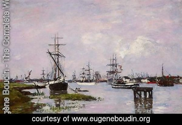 Eugène Boudin - Anvers, The Port