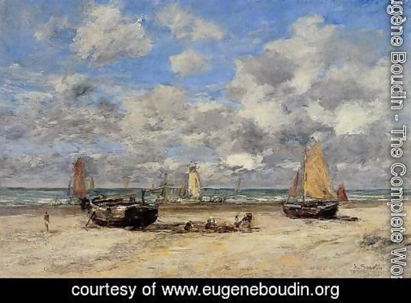 Eugène Boudin - Low Tide at Scheveningen