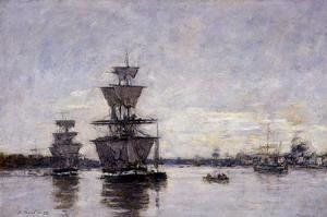 Eugène Boudin - The Port of Bordeaux