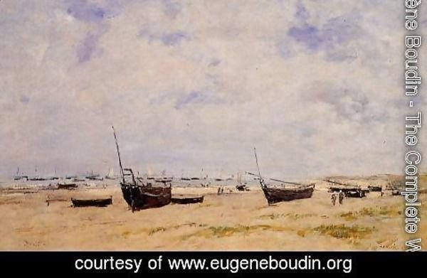 Eugène Boudin - Berck, the Beach at Low Tide