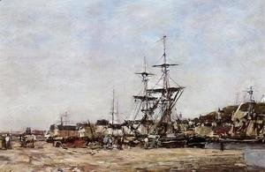 Eugène Boudin - Deauville, the Docks