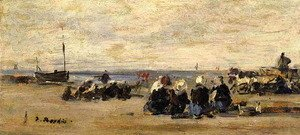 Eugène Boudin - Fishwomen at Berck