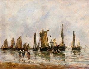 Eugène Boudin - Fishing Boats at Berck