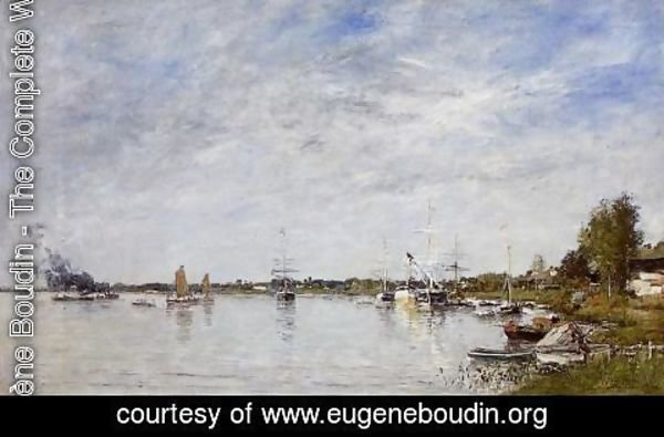 Eugène Boudin - Boat Construction Docks at Lormont