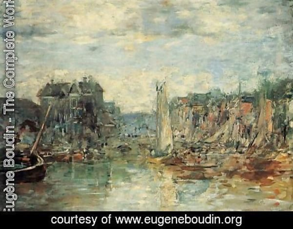 Eugène Boudin - Rotterdam, the Commodities Exchange Port