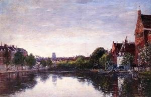 Eugène Boudin - Rotterdam, a Corner of the Basin