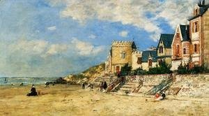Eugène Boudin - The Tour Malakoff and the Trouville Shore