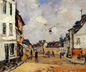 Eugène Boudin - Fervaques, the Main Street
