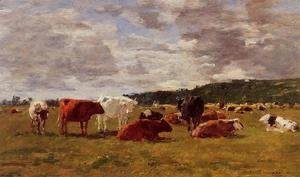 Eugène Boudin - Pasture at Deauville