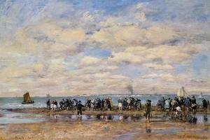 Eugène Boudin - Trouville, the Beach at Low Tide