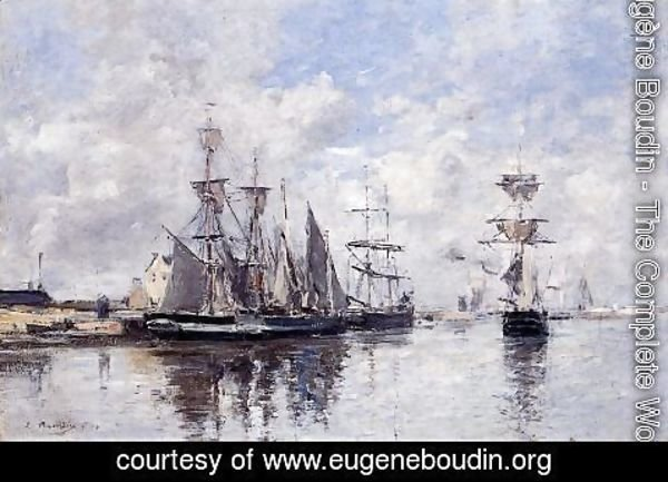 Eugène Boudin - The Port of Deauville I