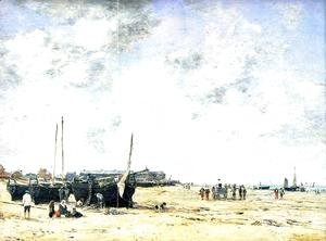 Eugène Boudin - The Beach at Berck