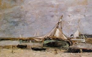 Eugène Boudin - Trouville, the Jettys, Low Tide