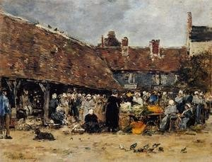 Market at Trouville I