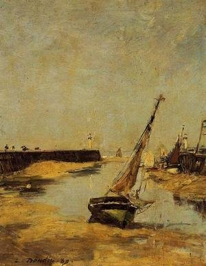 Eugène Boudin - Trouville, the Jettys, Low Tide I