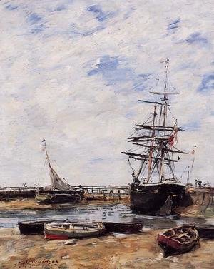 Eugène Boudin - Trouville, Low Tide