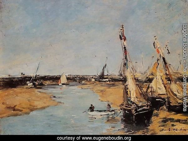 Trouville, the Jettys at Low Tide