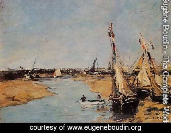 Eugène Boudin - Trouville, the Jettys at Low Tide