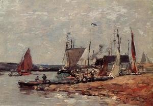 Eugène Boudin - Trouville, the Port
