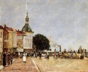 Eugène Boudin - The Town of Dordrecht
