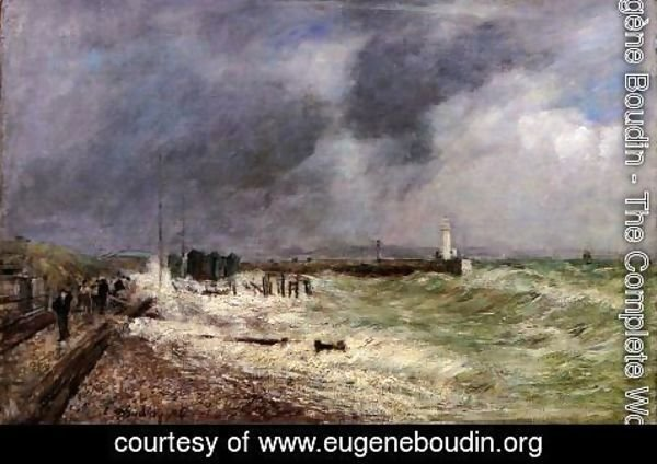 Eugène Boudin - Le Havre: A Gust of Wind at Frascati